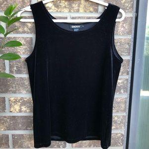 Velvet black DKNY top